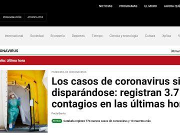 Imagen de la portada del site de laSexta.