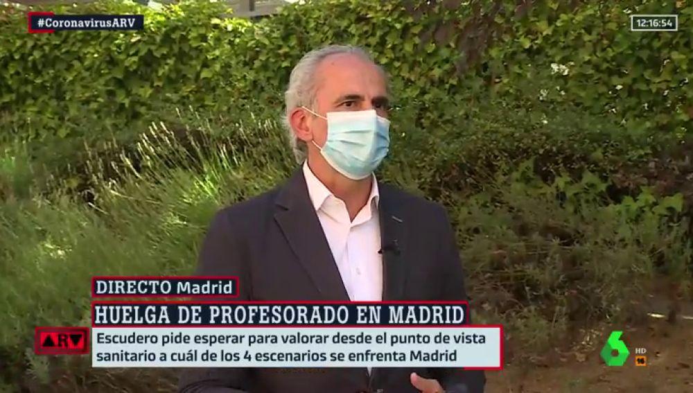 El consejero de la Comunidad de Madrid, Enrique Ruiz Escudero.
