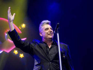 Loquillo durante un concierto en Madrid