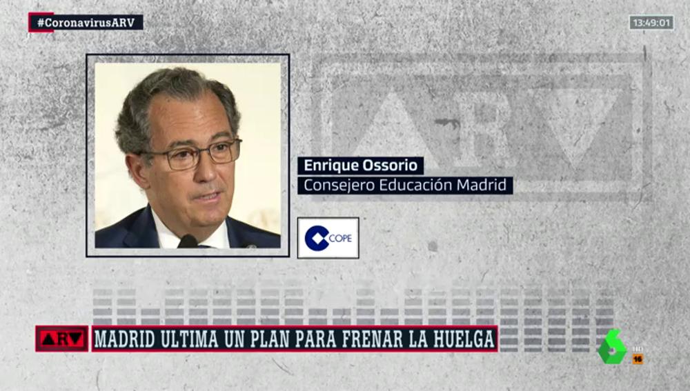 El consejero de Educación en Madrid, Enrique Ossorio