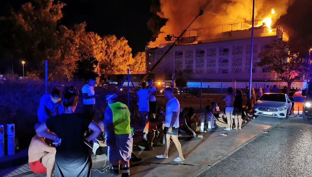 Incendio del hotel Sisu en Puerto Banús, Marbella