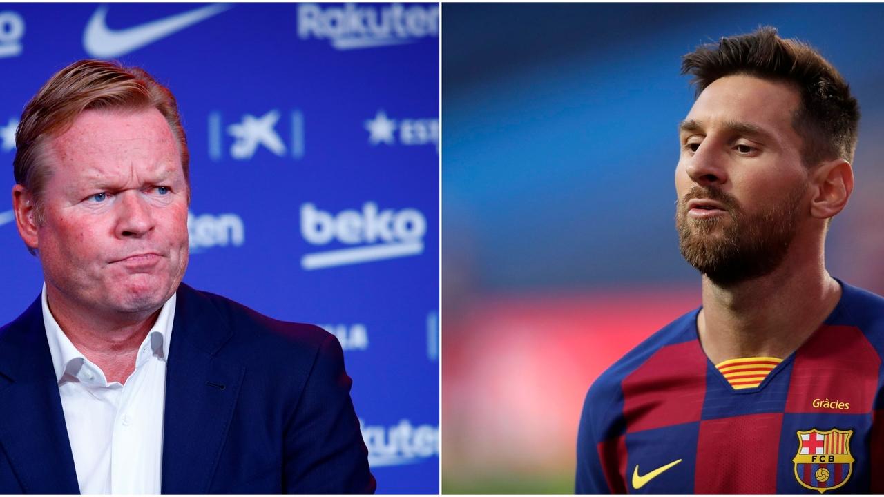 Ronald Koeman y Leo Messi