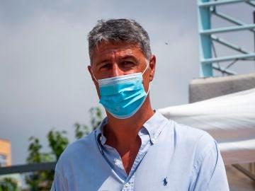 El alcalde de Badalona, Xavier Garcia Albiol, presenta el primer dron de la Guárdia Urbana