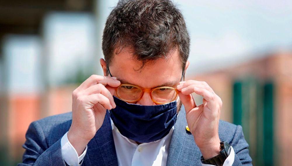 El vicepresidente del Govern de la Generalitat y coordinador nacional de ERC, Pere Aragonés
