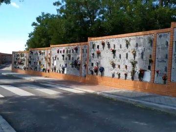 Nuevos nichos dispuestos en el cementerio de la Almudena.