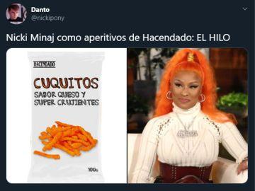 Nicki Minaj, 'convertida' en aperitivos de Hacendado por un usuario de Twitter