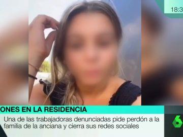 El vídeo que la propia trabajadora ha difundido en sus redes sociales