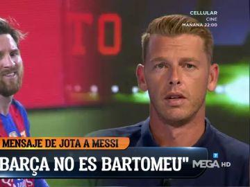"""La emoción de Jota Jordi ante la posible salida de Messi: """"Leo, el Barça no es Bartomeu, el Barça somos nosotros"""""""