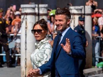 Victoria junto a su marido, el exfutbolista David Beckham