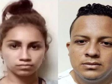 Imagen de la pareja detenida por matar y fingir la desaparición de un bebé