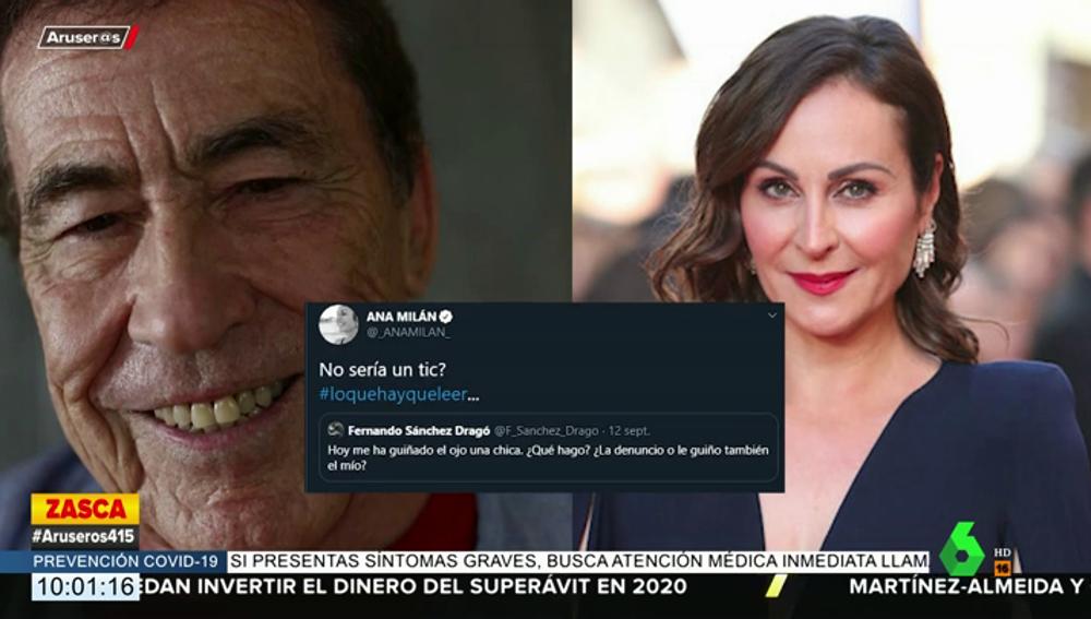"""La aplaudida respuesta de Ana Milán al """"ascazo"""" de comentario de Sánchez Dragó"""