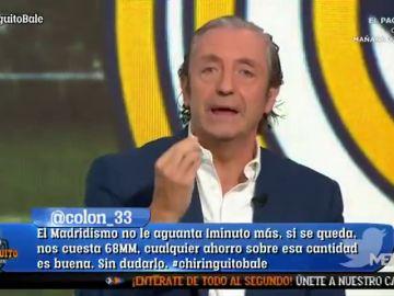 """Josep Pedrerol estalla con los """"caprichos"""" de Zinedine Zidane: Bale, James..."""