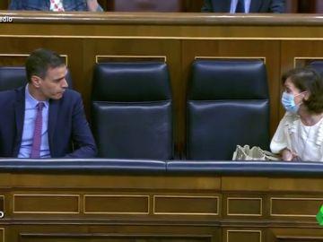 Vídeo manipulado - El rapapolvo de Calvo a Sánchez