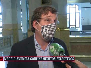 """Almeida insiste en no """"señalar"""" a ninguna zona de Madrid: """"No quiero especular ni estigmatizar determinados barrios"""""""
