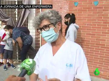 """La denuncia de Flora, enfermera en Vallecas: """"¿Quién no teletrabaja?, ¿quiénes viven seis en 45 metros cuadrados? La clase obrera"""""""