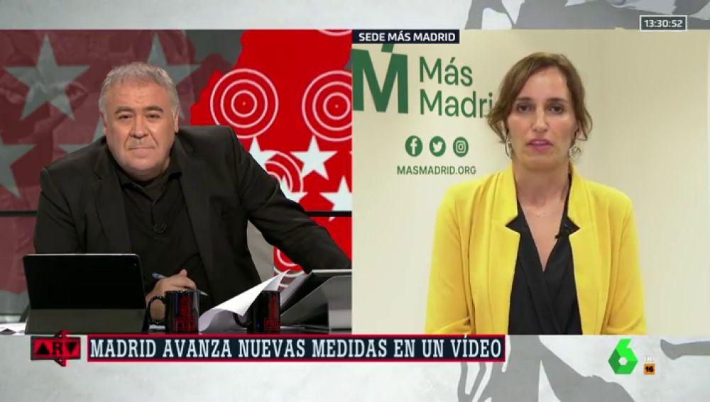 """Mónica García (Más Madrid), sobre el anuncio de medidas: """"No hay nadie al volante y no se puede gestionar a golpe de ocurrencia"""""""