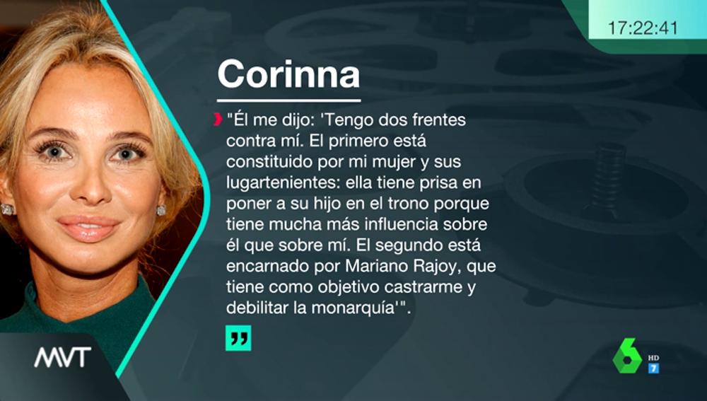 """Corinna afirma que Juan Carlos I fue víctima de un """"golpe de estado"""""""