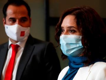 La presidenta de Madrid, Isabel Díaz Ayuso y el exvicepresidente madrileño, Ignacio Aguado
