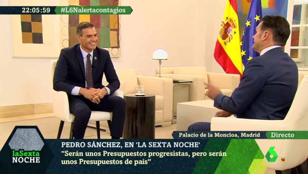 """La sonrisa de Sánchez al hablar de la coalición con Unidas Podemos: """"Para ser su primera experiencia de gobierno, están cumpliendo con creces"""""""