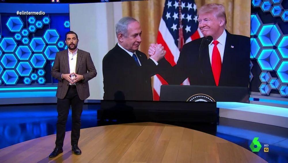 Dani Mateo analiza en El Intermedio una costumbre que tiene el primer ministro de Israel.