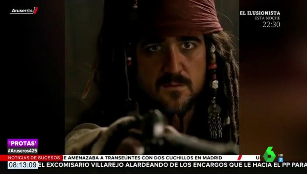 Antonio Orozco 'cambia' de profesión convertido en Jack Sparrow