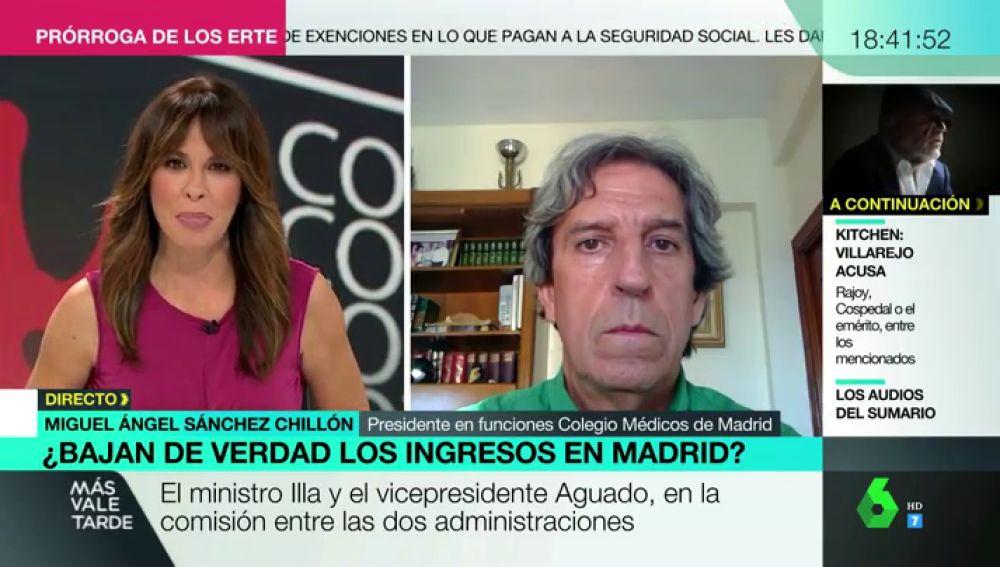 """La dura crítica del presidente del Colegio de Médicos de Madrid a la batalla política en la región: """"Es una auténtica pena"""""""