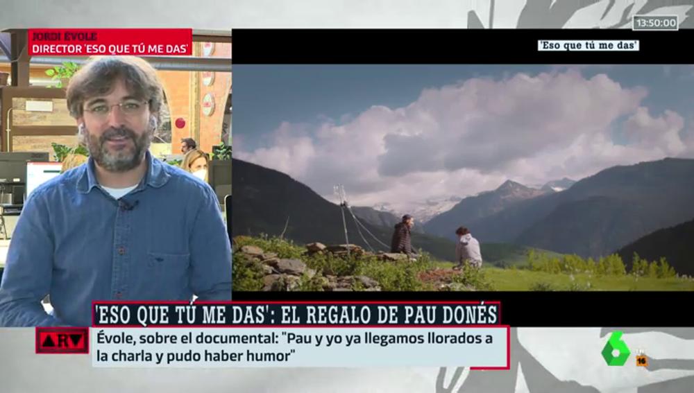 """Évole, sobre su última charla con Pau Donés: """"De alguna manera, Pau sigue vivo. Con este documental, sigue estando ahí"""""""