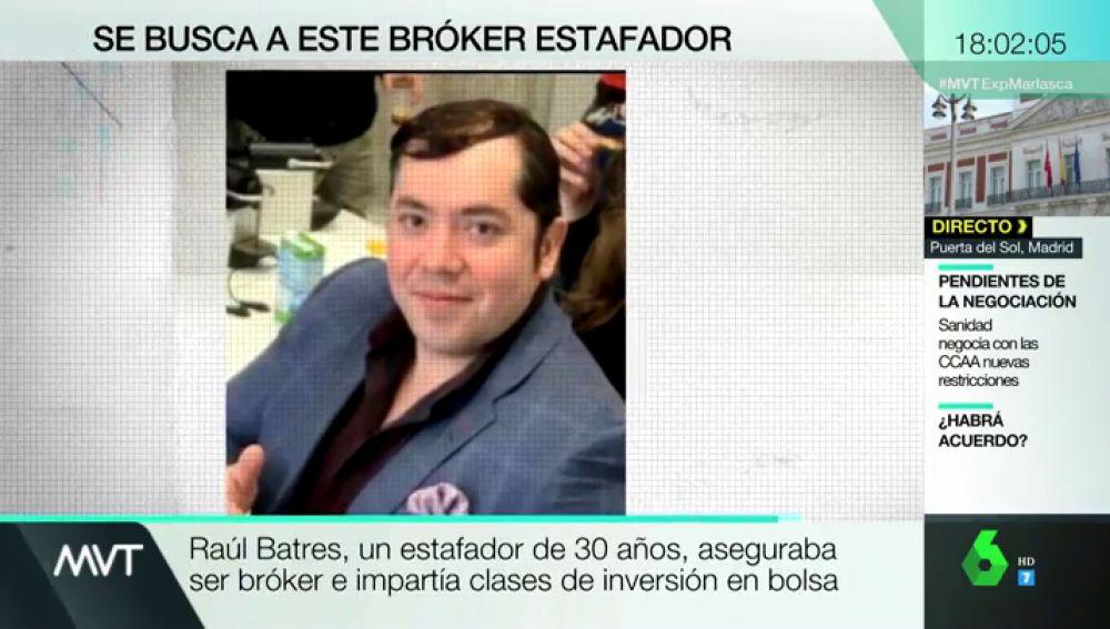 """Buscan a Raul Batres, un supuesto inversor en bolsa huido con el dinero de más de 50 personas a las que """"enseñaba"""" a invertir"""