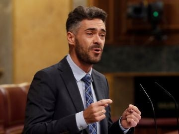 El diputado del PSOE Felipe Sicilia, durante su intervención este jueves en el debate del pleno del Congreso