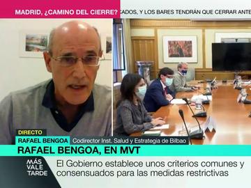 """Rafael Bengoa, experto codirector del Instituto de Salud y Estrategia de Bilbao.en salud: """"Con estos confinamientos hace falta estabilizar los datos y estabilizar la política"""""""