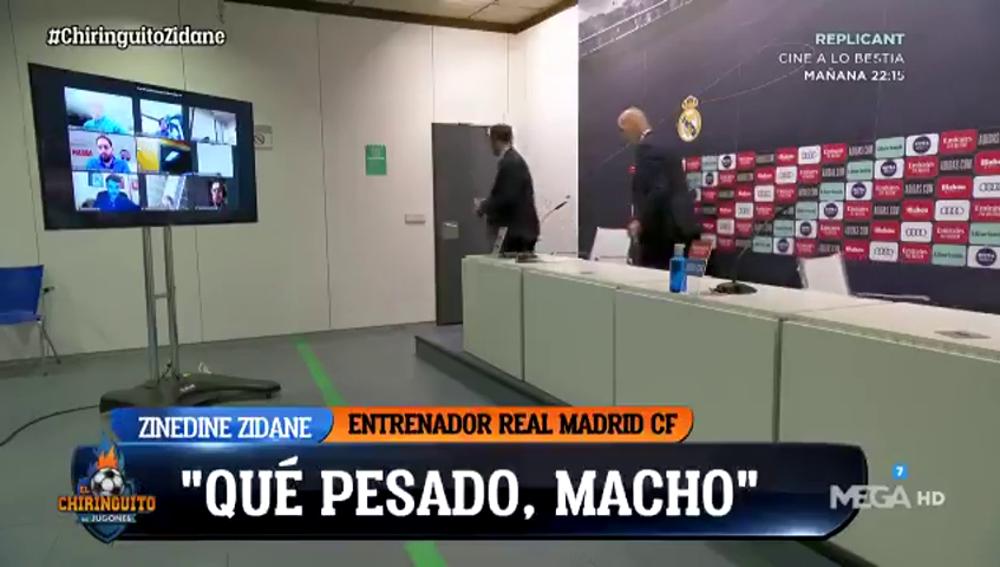 """Zidane estalló al finalizar la rueda de prensa: """"¡Qué pesado, macho!"""""""