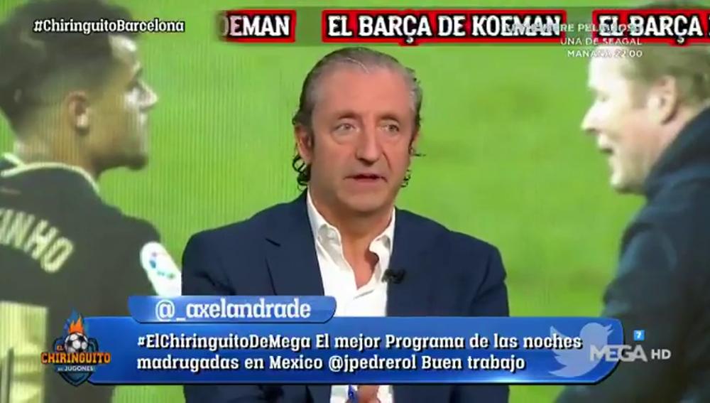 """El 'dardo' de Pedrerol a Xavi y su aplauso a Koeman: """"Ha demostrado ser más culé que nadie"""""""