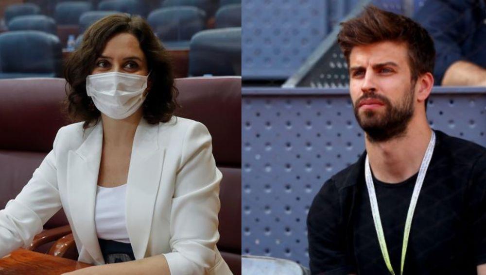 Isabel Díaz Ayuso y Gerard Piqué