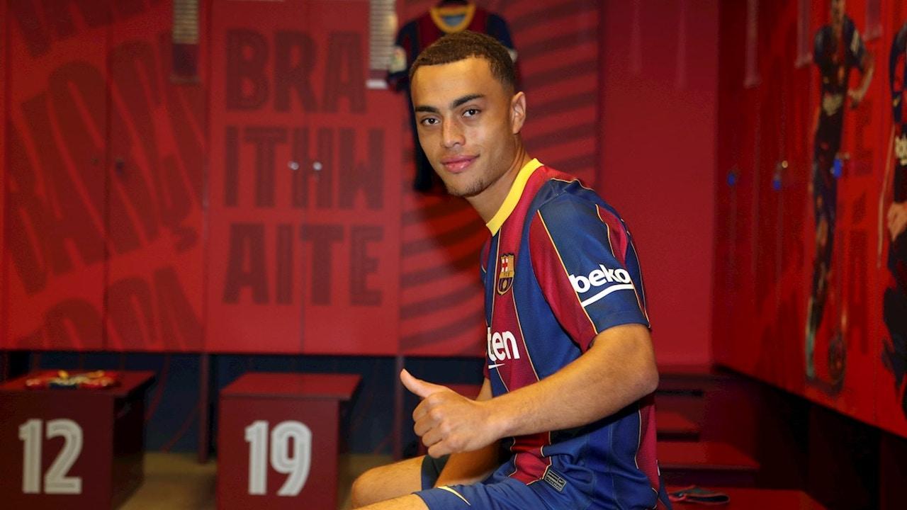 Sergiño Dest, con el Barça