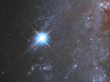 Imagen de la supernova captada por el telescopio Hubble