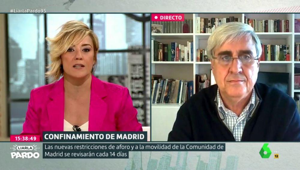 """La respuesta de Badiola sobre el falseo de datos del COVID que preocupa a Cristina Pardo: """"No me deja nada tranquila"""""""