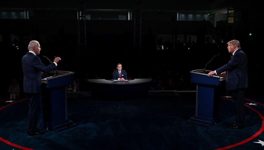 Joe Biden y Donald Trump, durante su primer debate presidencial