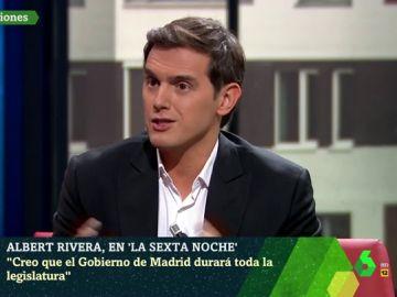 """Rivera asegura que la coalición entre PP y Ciudadanos en Madrid durará """"hasta que acabe la legislatura"""""""