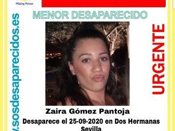 Zaira Gómez Pantoja, desaparecida en Sevilla