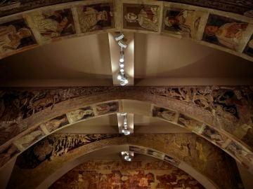 Pinturas de la Sala Capitular del monasterio de Sijena (Huesca) en el Museo Nacional de Arte de Cataluña