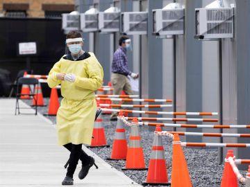 Pruebas del coronavirus en Brooklyn, Nueva York