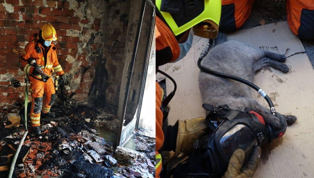 Incendio en un piso de Paiporta, Valencia