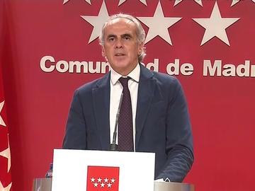 El consejero de Sanidad de la Comunidad de Madrid
