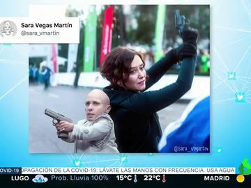 La fotografía de Isabel Díaz Ayuso empuñando un arma de la que todo el mundo habla