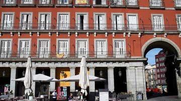 Imagen de una terraza en la Plaza Mayor