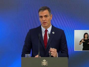 Pedro Sánchez, en la presentación de los fondos europeos