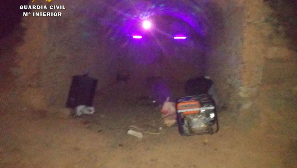 'Rave' ilegal desalojada en La Rioja