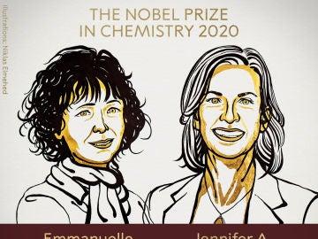 Premio Nobel de Química para  Emmanuelle Charpentier y Jennifer A. Doudna