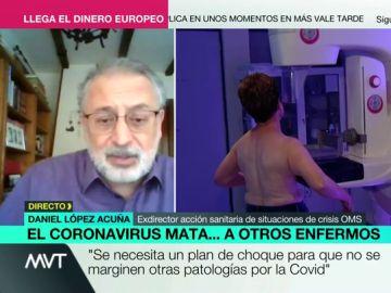 Daniel López Acuña, exdirector de acción sanitaria de situaciones de crisis de la OMS