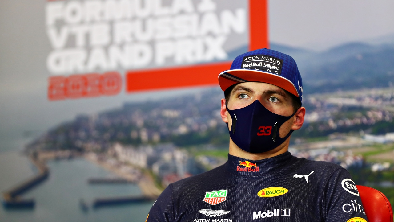 Max Verstappen, en rueda de prensa